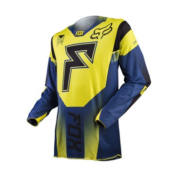 MAILLOT FOX 360 FRANCHISE JAUNE