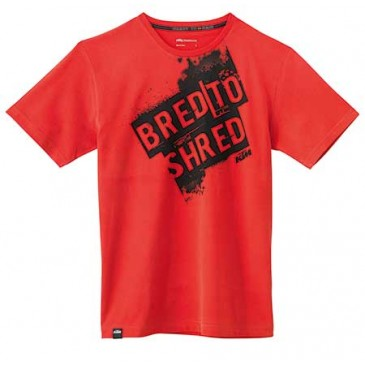 "TEE SHIRT KTM ""BRED TO SHRED"""