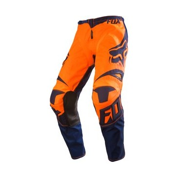 PANTALON ENFANT FOX 180 RACE ORANGE/BLEU