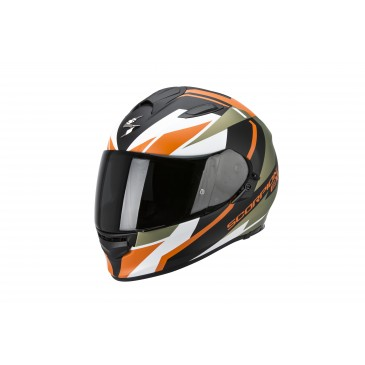 CASQUE SCORPION EXO 510 AIR FUJIN NOIR-VERT-ORANGE