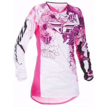 MAILLOT FEMME FLY KINETIC ROSE/VIOLET