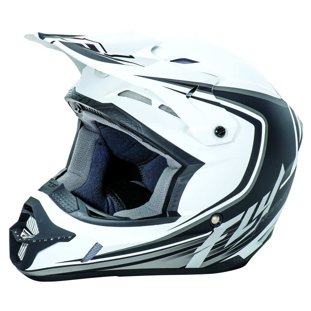 CASQUE FLY KINETIC FULL SPEED BLANC MAT/NOIR