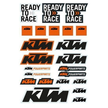 KIT 5 PLANCHES STICKERS KTM