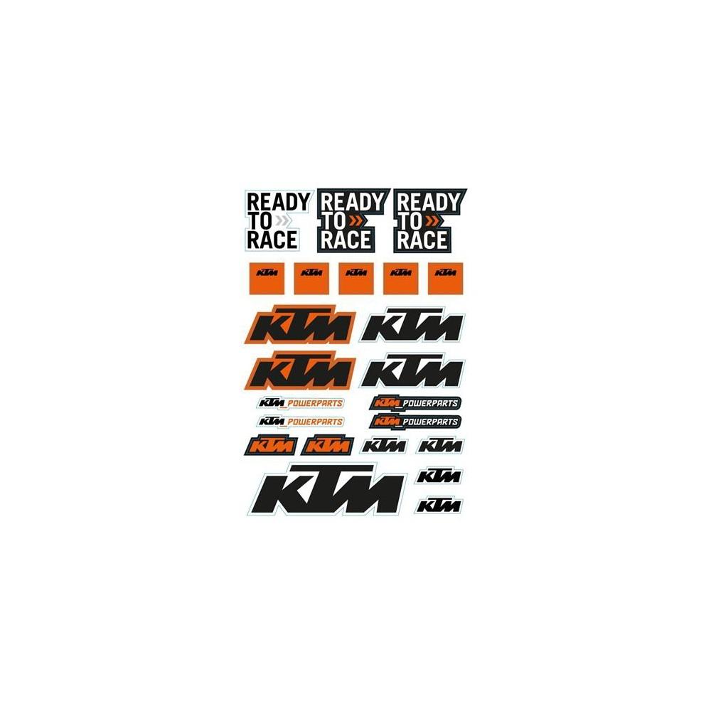 Ktm X Bow >> KIT 5 PLANCHES STICKERS KTM - Déco KTM - Wolff KTM