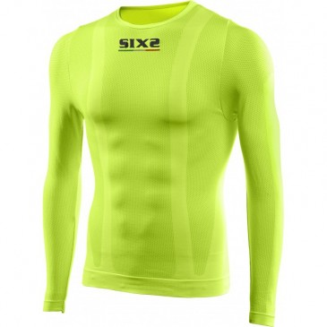 MAILLOT MANCHES LONGUES SIXS JAUNE FLUO