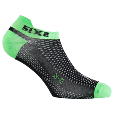 CHAUSSETTES SIXS BASSE VERT FLUO