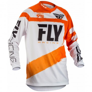 MAILLOT FLY F-16 ORANGE/BLANC