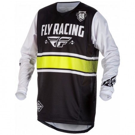 MAILLOT FLY KINETIC ERA NOIR/BLANC