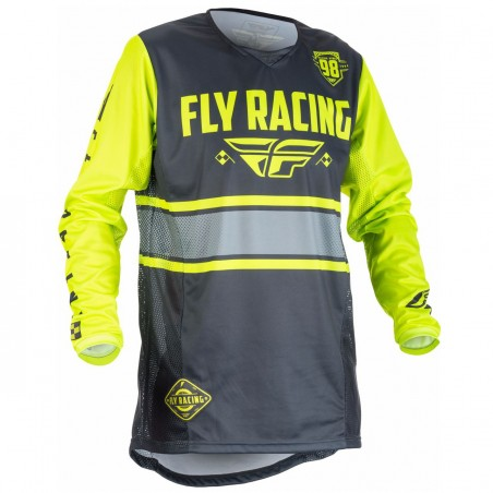 MAILLOT FLY KINETIC ERA JAUNE FLUO/GRIS