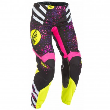 PANTALON FLY KINETIC FEMME ROSE/JAUNE FLUO