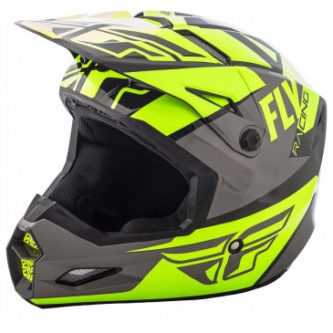 CASQUE FLY ELITE GUILD GRIS/JAUNE FLUO