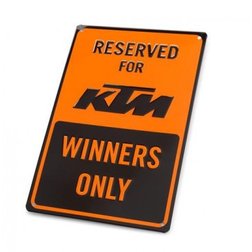 PLAQUE DE PARKING KTM