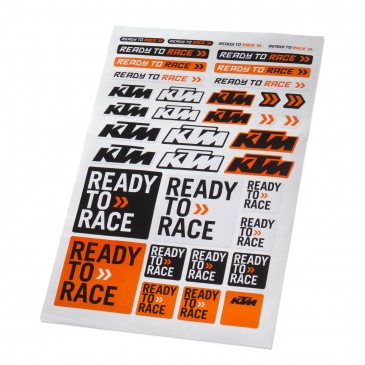 PLANCHE STICKERS KTM CORPORATE