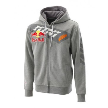 SWEAT A TIRETTE KTM/KINI-RB GRIS