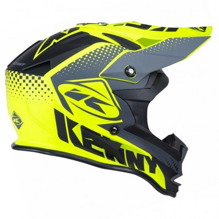 CASQUE KENNY PERFORMANCE JAUNE FLUO MAT