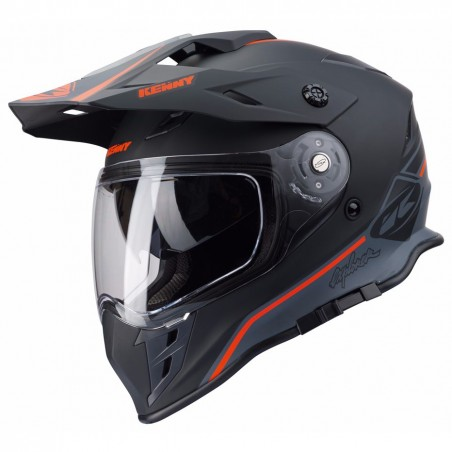 CASQUE KENNY EXPLORER NOIR/ORANGE