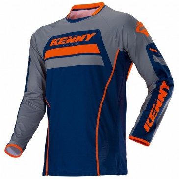 MAILLOT KENNY TITANIUM BLEU/ORANGE