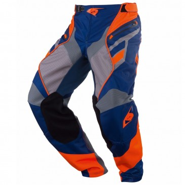 PANTALON KENNY TITANIUM BLEU/ORANGE