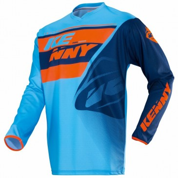 MAILLOT ENFANT TRACK KENNY BLEU/ORANGE