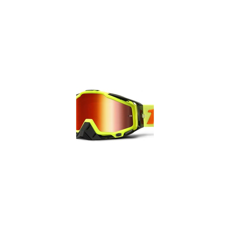 LUNETTES 100% MODELE RACECRAFT ATTACK YELLOW