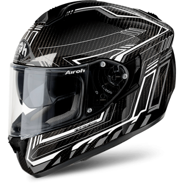 CASQUE ROUTE AIROH ST 701 SAFETY FULL CARBON WHITE GLOSS