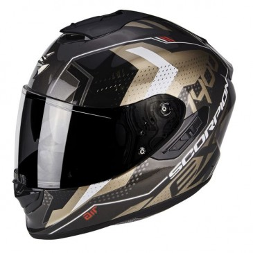 CASQUE SCORPION EXO-1400 AIR TRIKA NOIR/GOLD