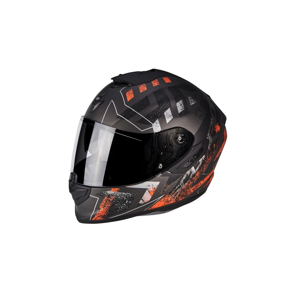 casque scorpion exo 1400 air picta noir mat orange casque wolff ktm. Black Bedroom Furniture Sets. Home Design Ideas