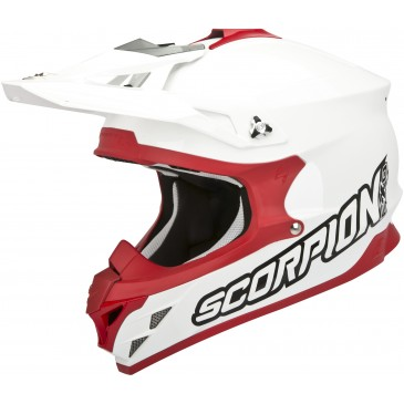 CASQUE SCORPION VX-15 EVO AIR UNI BLANC/ROUGE