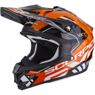 CASQUE SCORPION VX-15 AIR ARGO NOIR/ORANGE