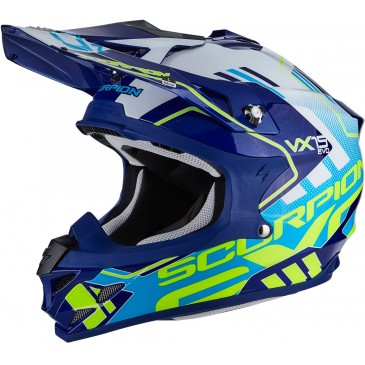 CASQUE SCORPION VX-15 AIR ARGO BLEU/BLANC