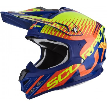 CASQUE SCORPION VX-15 AIR SIN BLEU/ORANGE
