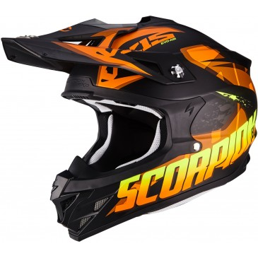 CAQSUE SCORPION VX-15 AIR DEFENDER NOIR MAT/ORANGE