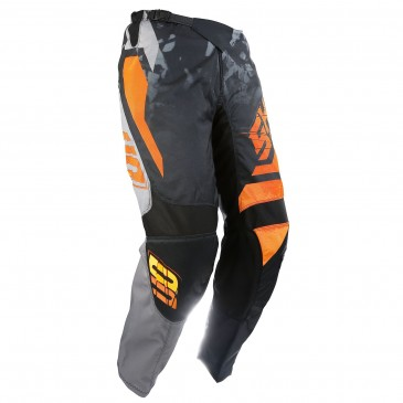 PANTALON SHOT SQUAD GRIS/ORANGE FLUO 28