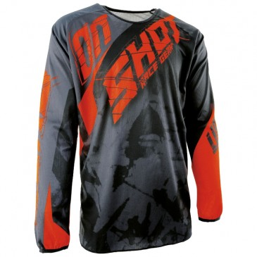 MAILLOT SHOT SQUAD GRIS/ORANGE FLUO