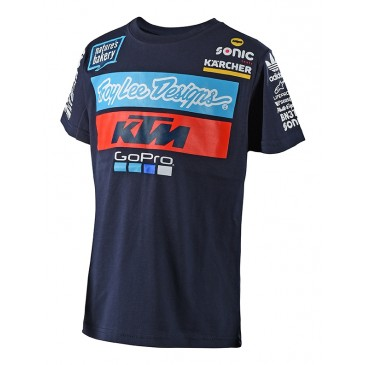 TEE SHIRT ENFANT TROY LEE DESIGNS KTM 2018 BLEU