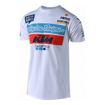 TEE SHIRT TROY LEE DESIGNS KTM 2018 BLANC