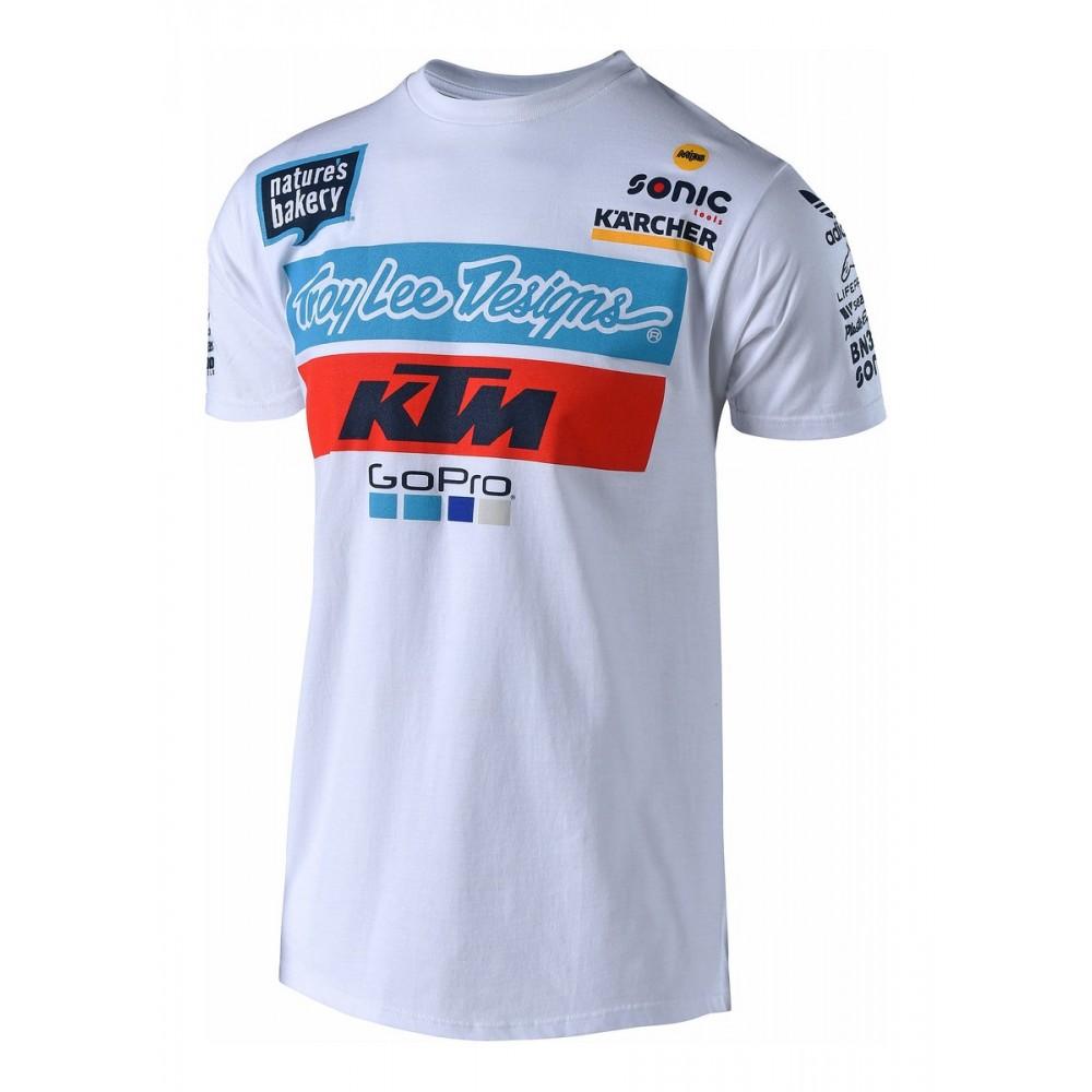 TEE SHIRT TROY LEE DESIGNS KTM 2018 BLANC - Tee shirts - Wolff KTM 891f3dba118