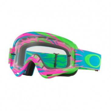 MASQUE OAKLEY XS O-FRAME MX HIGHVOLTAGE PINK/BLUE