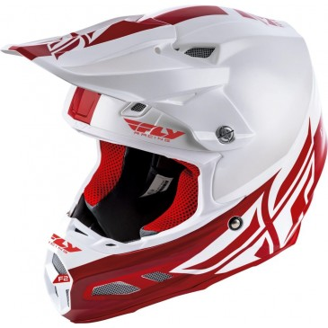 CASQUE FLY F2 MIPS SHIELD BLANC/ROUGE