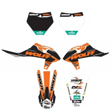 PACK PROMOS: KIT DECO WOLFF 3 PIECES SX 19 ORANGE