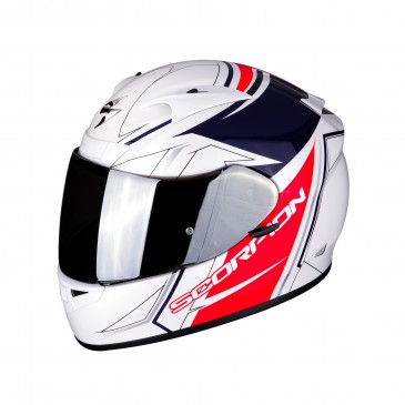 CASQUE SCORPION EXO-710 INTEGRAL LINE BLANC/ROUGE/BLEU