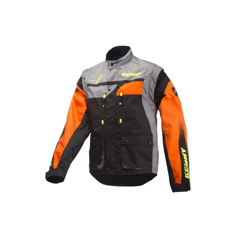 VESTE KENNY TRACK ORANGE/GREY