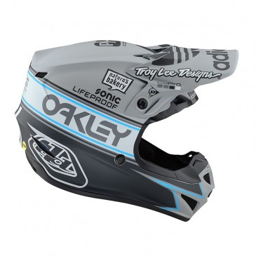 CASQUE ENFANT TROY LEE DESIGNS SE4 TEAM EDIT2 MATTE GRAY