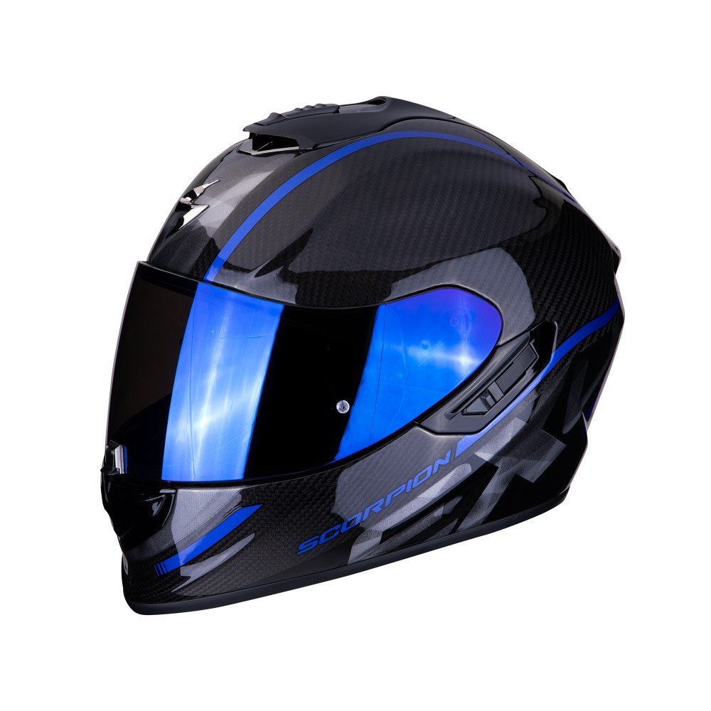 casque scorpion exo 1400 carbon air grand bleu casque wolff ktm. Black Bedroom Furniture Sets. Home Design Ideas
