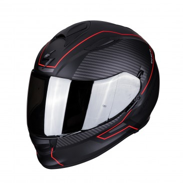 CASQUE SCORPION EXO 510  AIR FRAME NOIR MAT/ROUGE