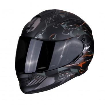 CASQUE SCORPION EXO 510  AIR LIKID NOIR MAT/ORANGE