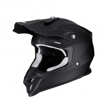 CASQUE SCORPION VX-16 AIR SOLID NOIR MAT