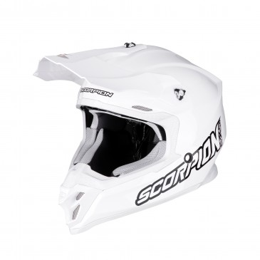 CASQUE SCORPION VX-16 AIR SOLID BLANC BRILLANT