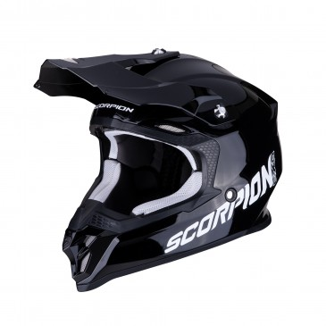 CASQUE SCORPION VX-16 AIR SOLID NOIR BRILLANT