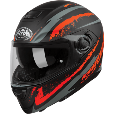 CASQUE AIROH ST 301 LOGO ORANGE MATT